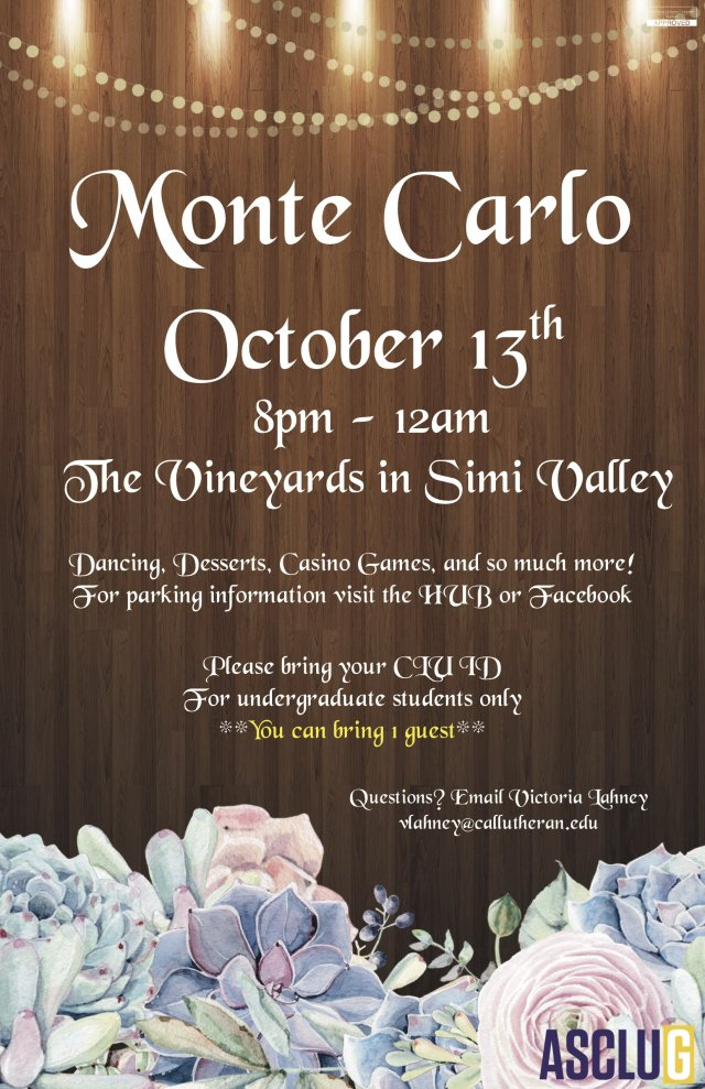ASCLUG Presents: Monte Carlo
