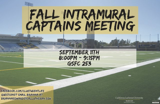 Intramural Captains Meeting