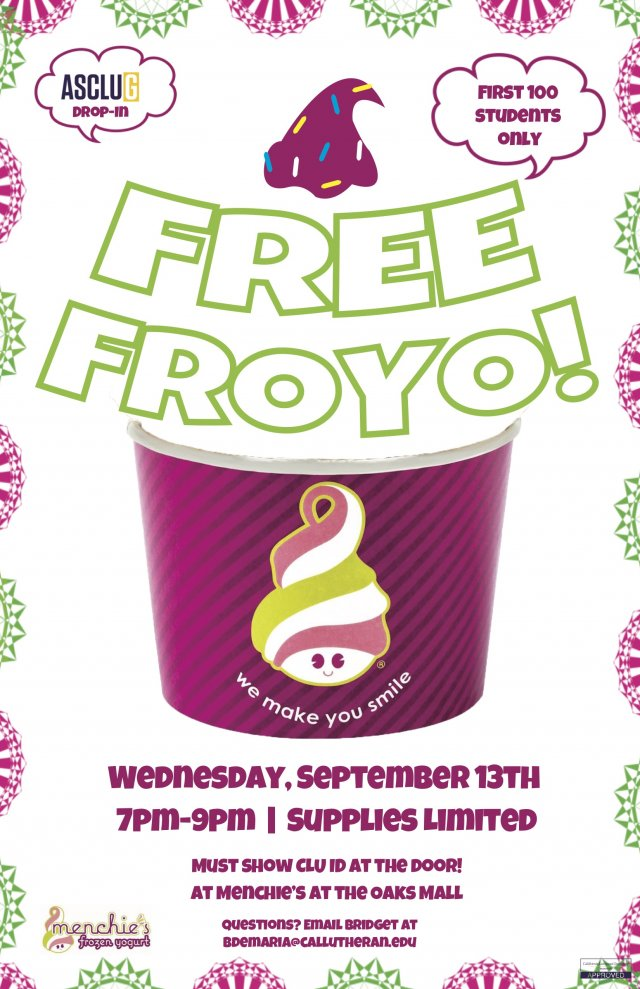 ASCLUG Presents: Menchie's Drop in