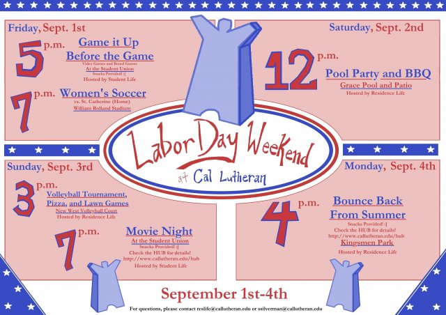 Pool Party and BBQ - Labor Day Weekend at Cal Lutheran