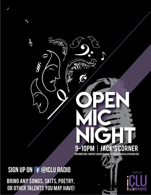 iCLU Radio Presents: Open Mic Night