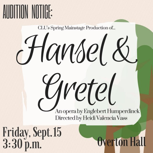 Hansel and Gretel Auditions
