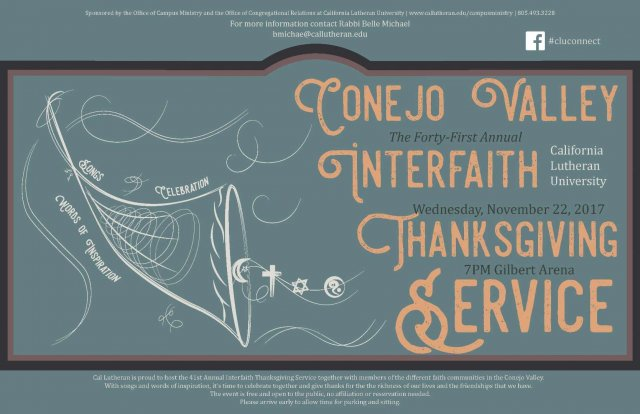 Interfaith Council Thanksgiving Eve Service
