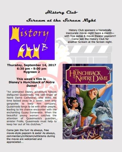 History Club: Scream at the Screen Night