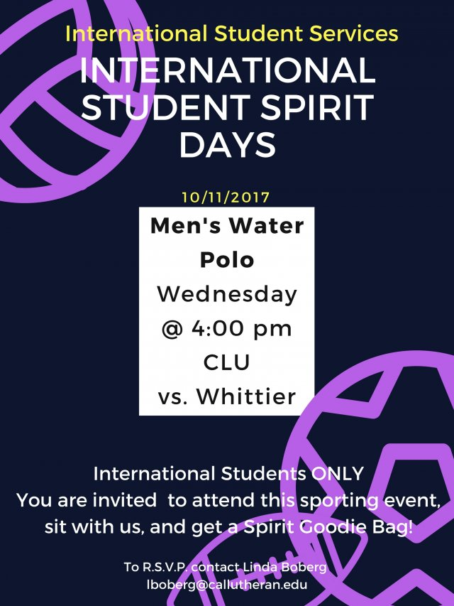 International Student Spirit Day - Men's Water Polo