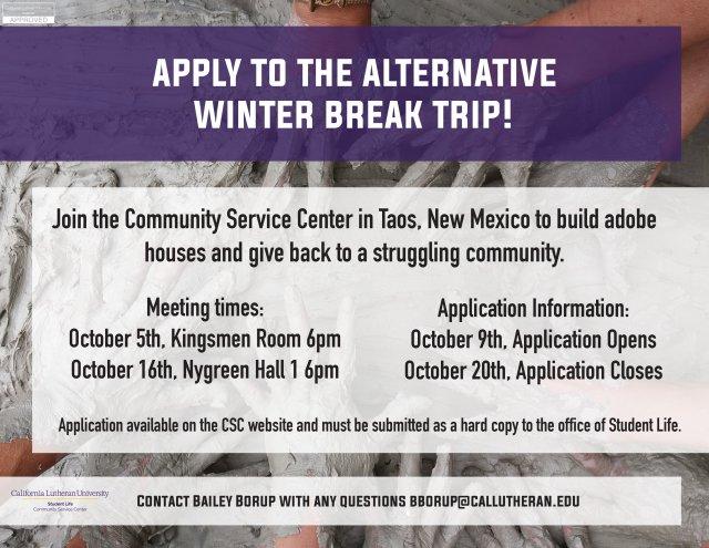 Alternative Winter Break Trip Interest Meeting
