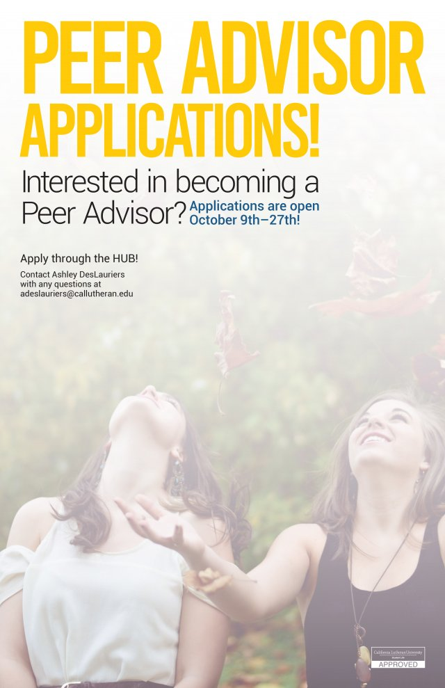 Apply to be a Peer Advisor