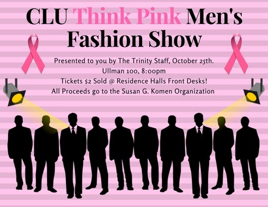 CLU Think Pink Men's Fashion Show