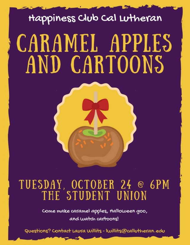 Happiness Club: Caramel Apples and Cartoons