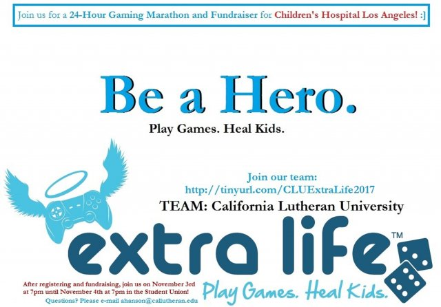 Extra Life - 24 Hour Gaming Fundraiser