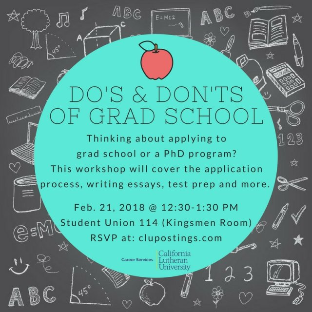 Do's and Don'ts of Grad School