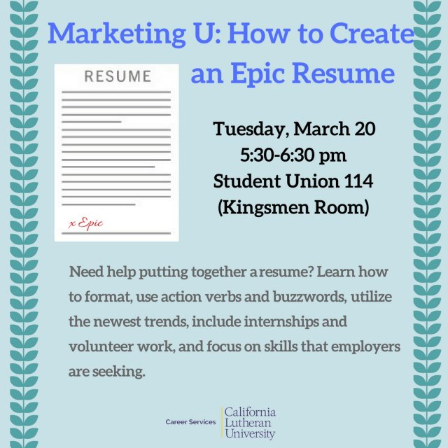 marketing u how to create an epic resume bachelor s degree for