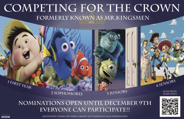 ASCLUG Presents: Nominations for Competing for the Crown.