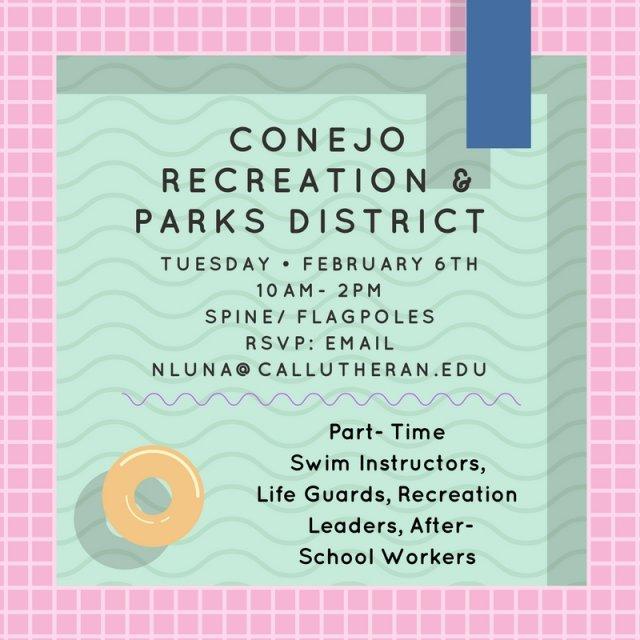 Conejo Recreation & Parks Info Table