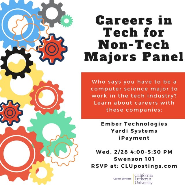 Careers in Tech for Non-Tech Majors Speaker Panel