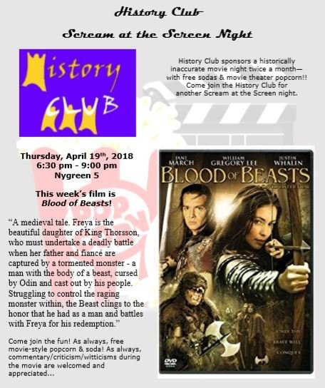 History Club: Scream at the Screen Night