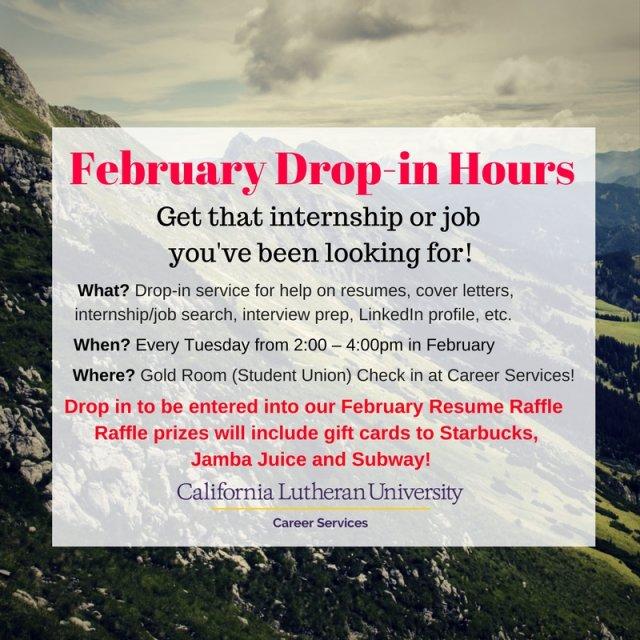 February Drop-in Service