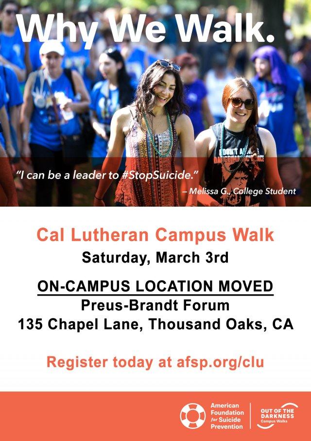 AFSP Cal Lutheran Campus Walk