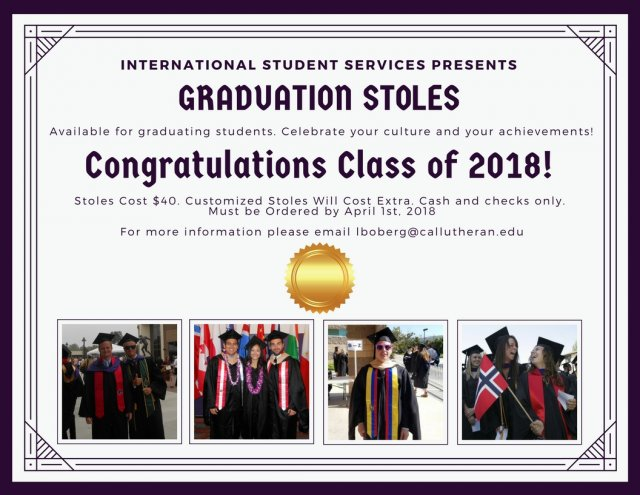 International Graduation Stoles