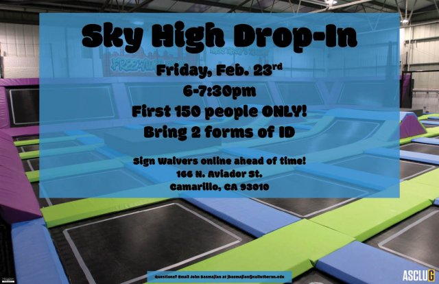 ASCLUG Presents: Sky High Drop In