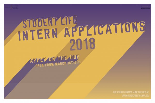 Student Life Intern Applications