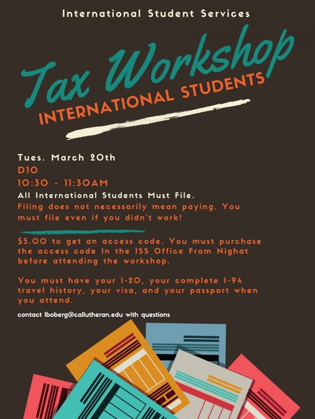 International Students Tax Workshops