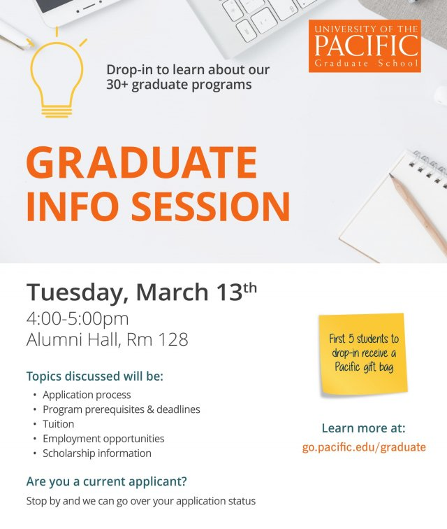 University of the Pacific Graduate Programs Info Session
