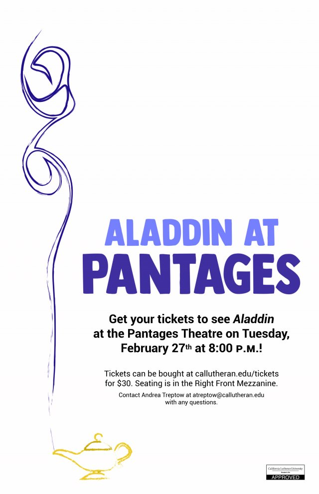Aladdin at the Pantages