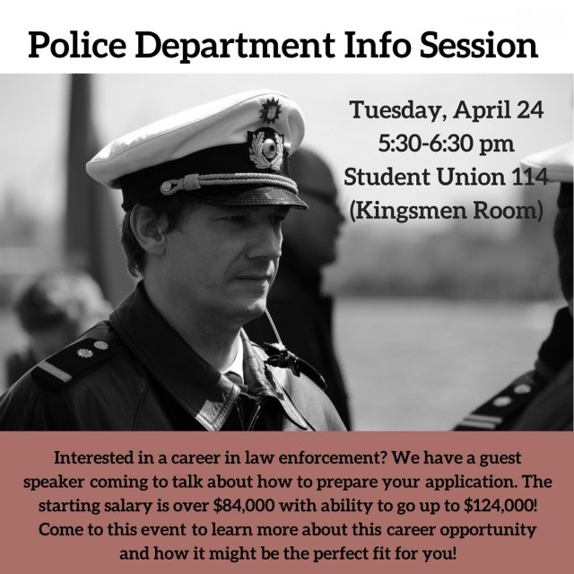 Police Department Info Session