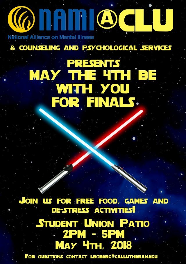 May the 4th Be With You for Finals!