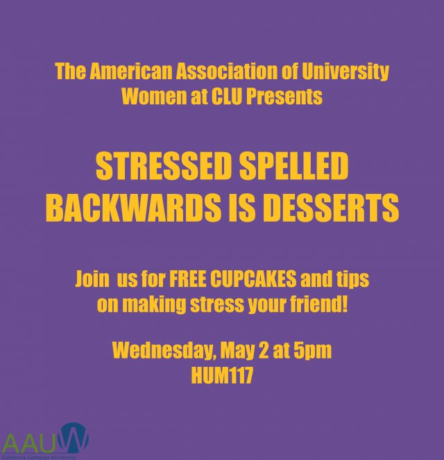 Stressed Spelled Backwards is Desserts