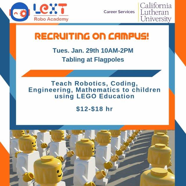 Recruiting on campus: LeXT Robo Academy