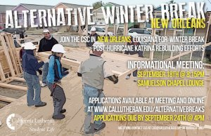 Alternative Winter Break- New Orleans Applications Available!