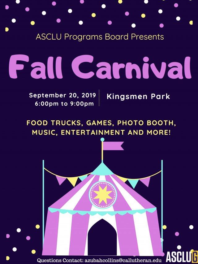 ASCLUG Presents: Fall Carnival