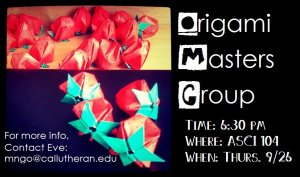 Origami Masters Group Meeting #1