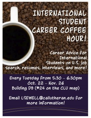 International Student Career & Coffee Hour