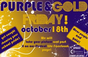 Purple and Gold Friday!