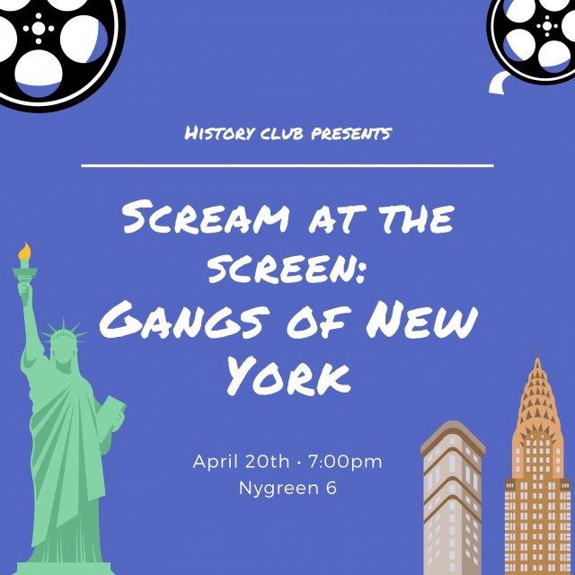 Scream at the Screen: Gangs of New York