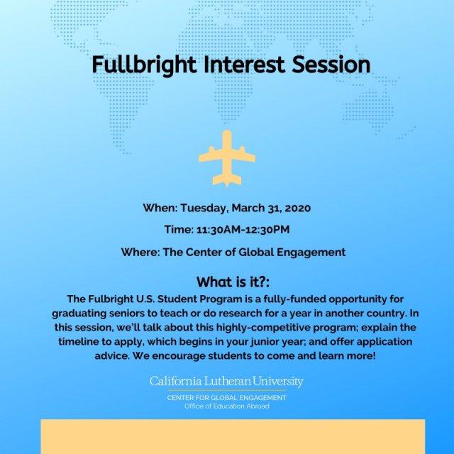 Fullbright Interest Session