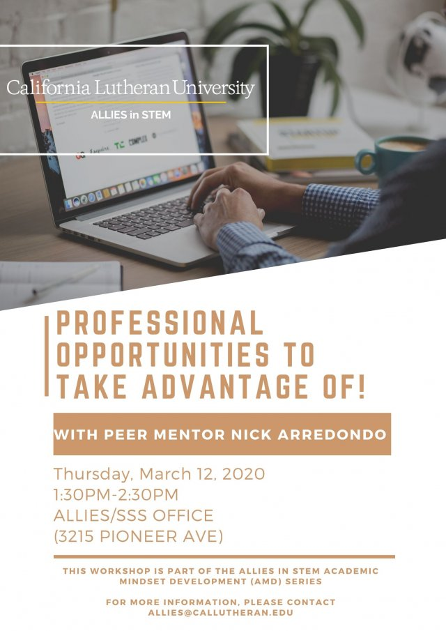 Professional Opportunities to Take Advantage Of