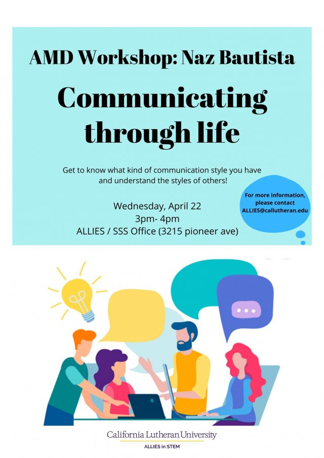 AMD Workshop: Communicating through Life