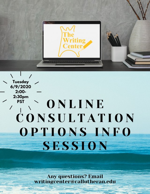 Info Session on Online Options for Consultations