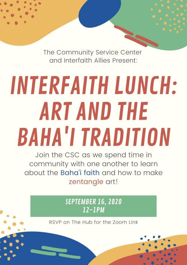 Community Service Center: Interfaith Lunch Series