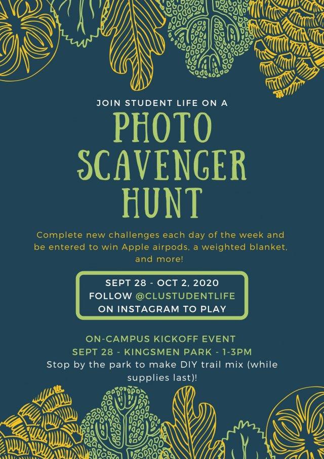 Student Life Photo Scavenger Hunt Kick-Off