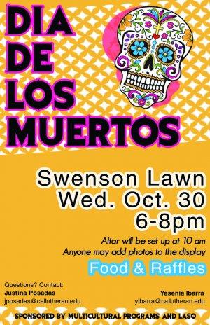 Dia de los Muertos Presented by the Latin American Student Organization (LASO)