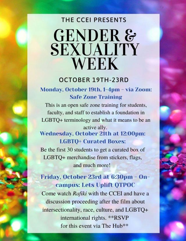 Gender & Sexuality Week