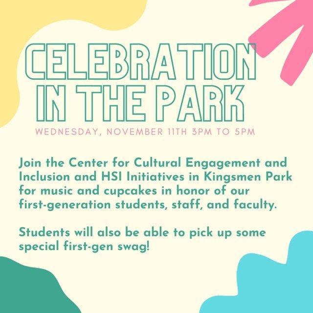 First-Gen Celebration in the Park