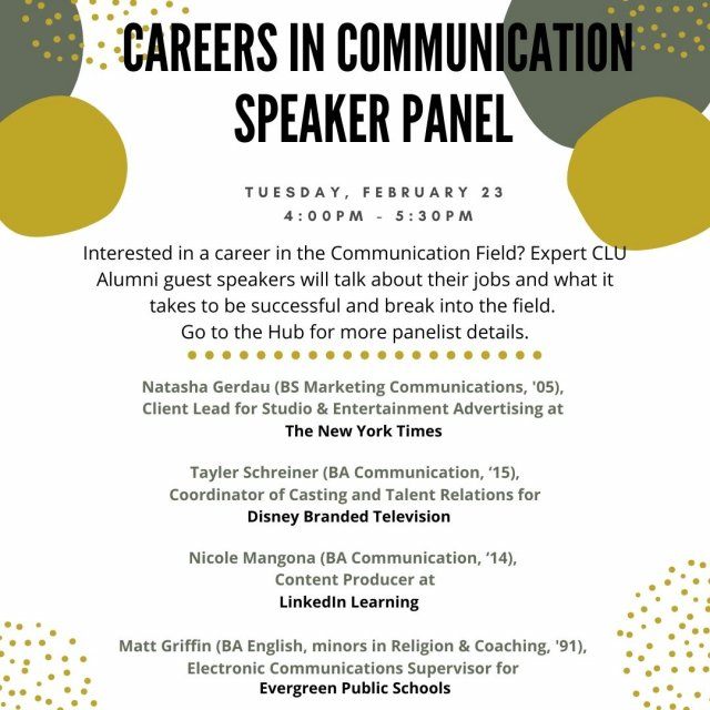 Careers in Communication Speaker Panel