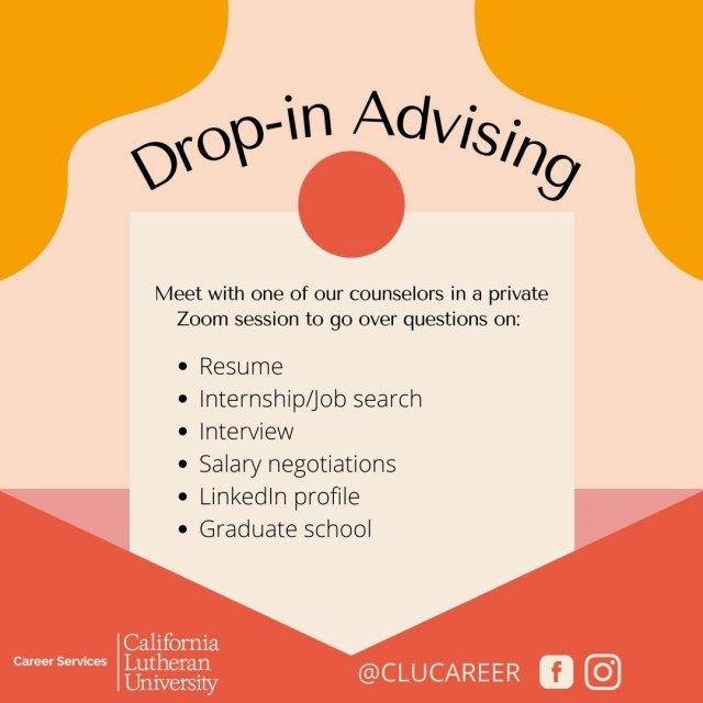 Drop-in Advising