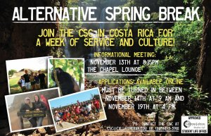 Alternative Spring Break Applications